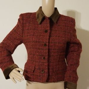 Laura Ashley Wool Blend Tweed Jacket